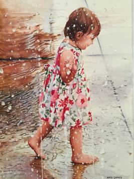 World Watercolor Month - Watercolor by Mark Garner - Adam's Little Girl - Doodlewash
