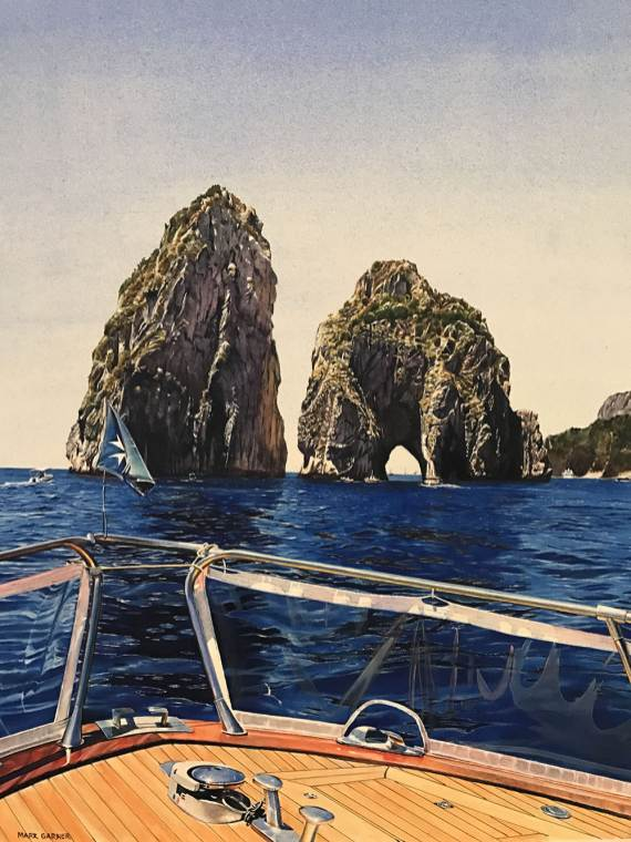 World Watercolor Month - Watercolor by Mark Garner - Capri - Doodlewash