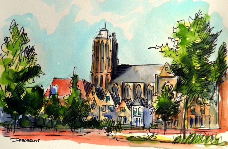 Dordrecht, The Church of Our Lady (Dutch: Onze-Lieve-Vrouwekerk, or Grote Kerk) in Dordrecht is a me