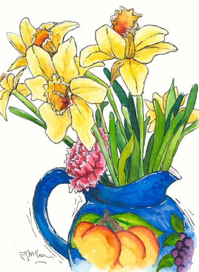 Daffodils In Jug 2