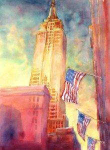 """Empire State"", ""Little Joshua Creek, No. 2″, is an original watercolor 18&#"
