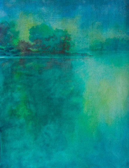 """""""Hill Country Abstract No. 6″ is an original watercolor, 15″ X 11"""" on 300-po"""
