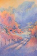 """""""Hill Country Back Road, No. 3″ is an original watercolor 15″ X 22"""" on 300-p"""