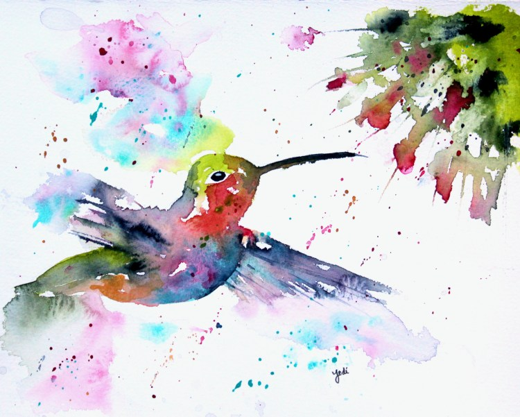 Hummingbird 2 Hummingbird Watercolor 2 8×10 Saunders 140lb Cold Press W