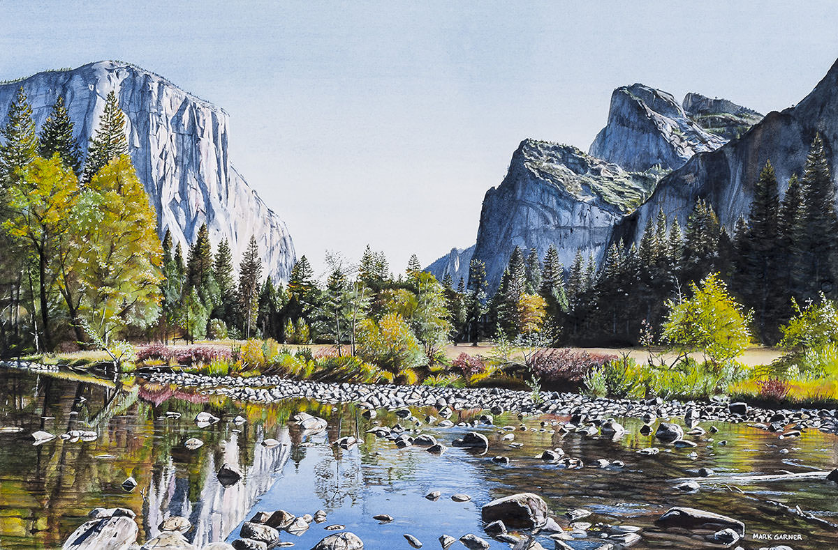 World Watercolor Month - Watercolor by Mark Garner - El Capitan, landscape - Doodlewash