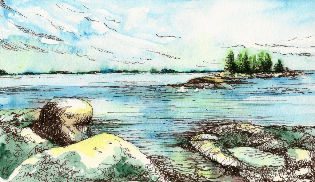 Day 10, missed a few days due to camping trip, trying to catch up! Views of Wheat Island Maine from
