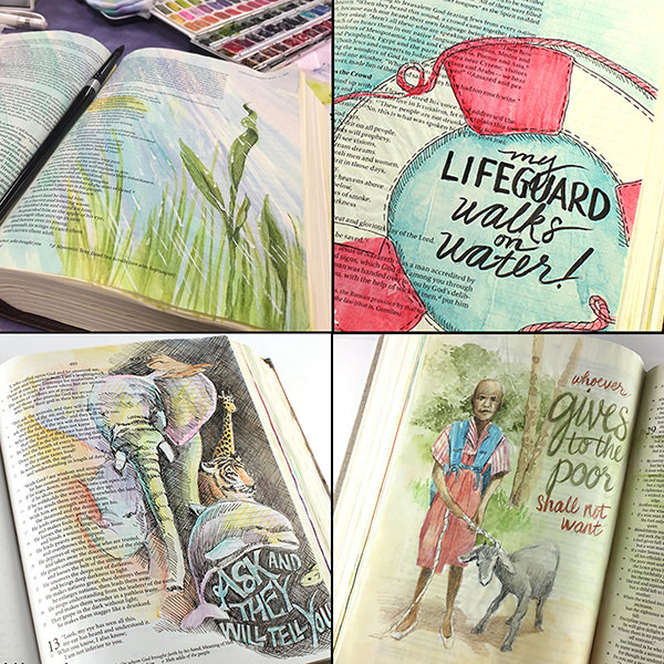 World Watercolor Month - Watercolor by Sandy Allnock - Bible Journaling - Doodlewash