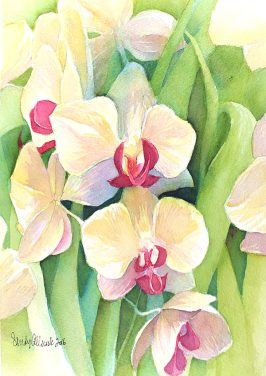 World Watercolor Month - Watercolor by Sandy Allnock - Iris - Doodlewash
