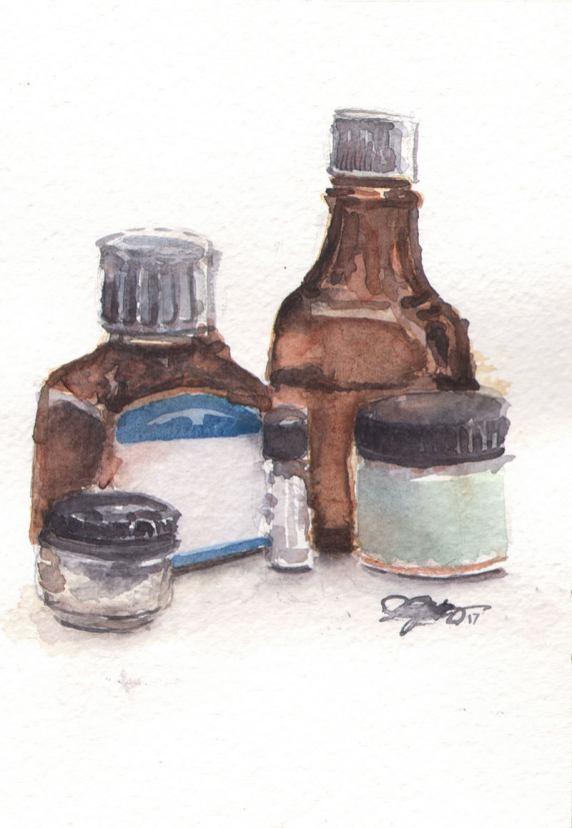 #WorldWatercolorMonth - Watercolor by Jill Gustavis - #doodlewash