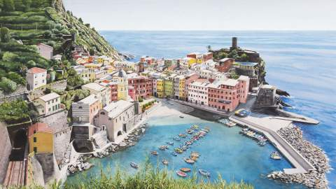 World Watercolor Month - Watercolor by Mark Garner - Vernazza - Doodlewash