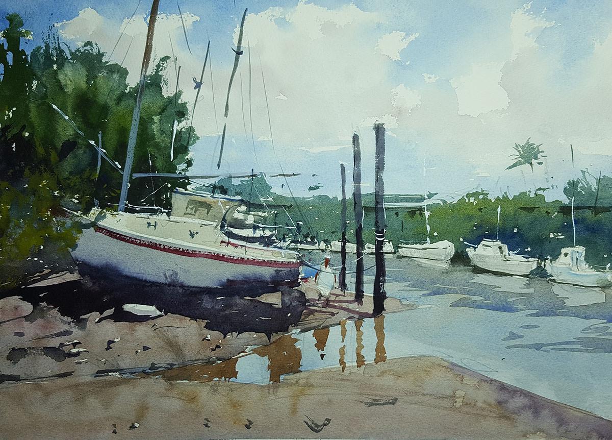 World Watercolor Month - Watercolor by Tim Wilmot - Yeppoon in Queensland - Doodlewash