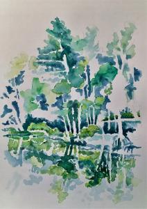"""j.18 – #WorldWatercolorMonth, #watercolorsummer2017 j.18"