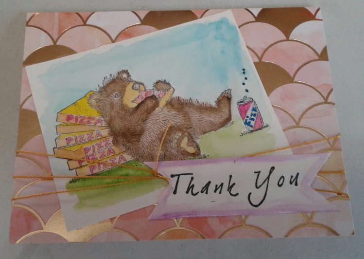 Day 39… A different use Tonight instead of a painting, I used my watercolors to make a thank y