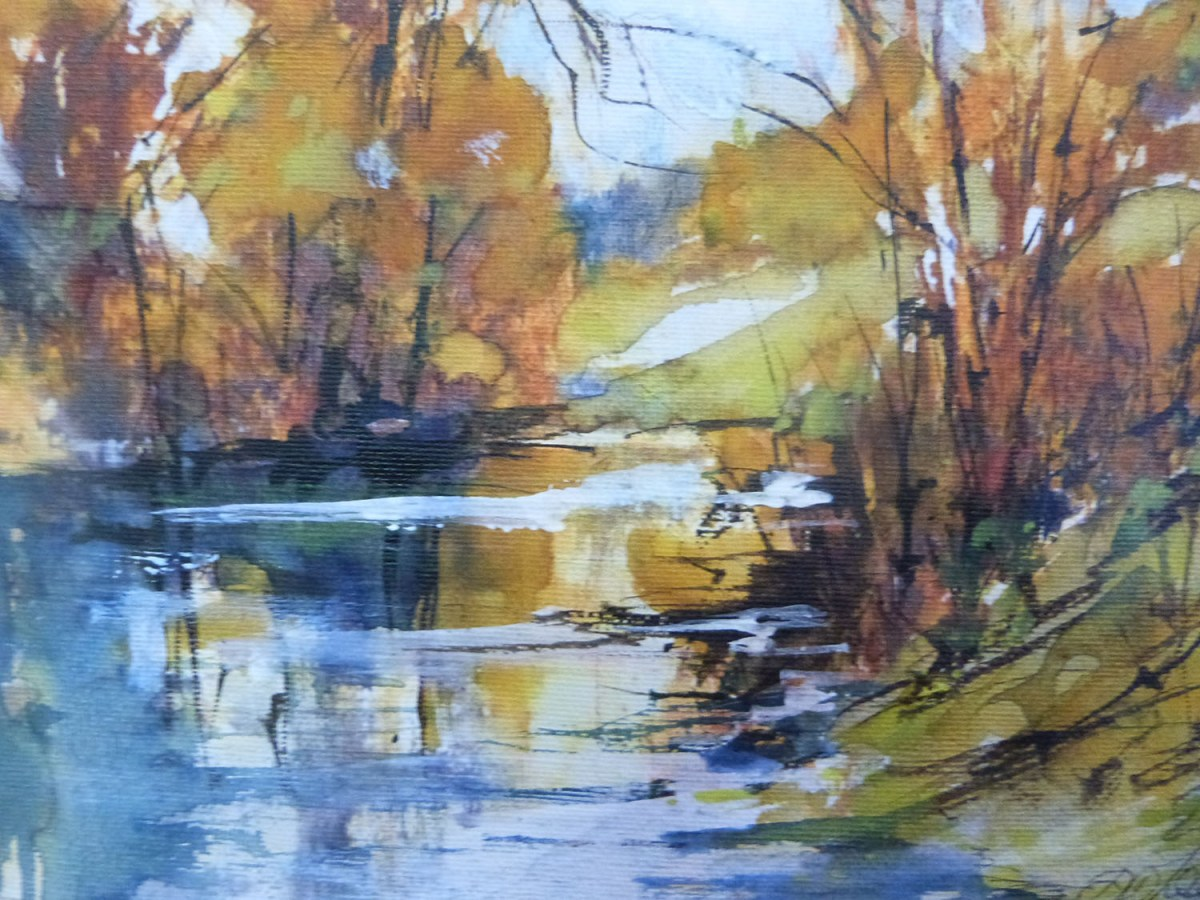 #WorldWatercolorGroup - 'Autumn Day' by Di White - Doodlewash