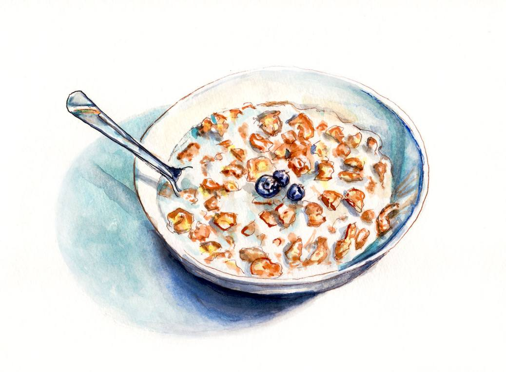 World Watercolor Group - Day 1 - My Favorite Breakfast - Doodlewash