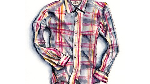 World Watercolor Group - Day 7 - My Favorite Shirt - Jules - France - Doodlewash