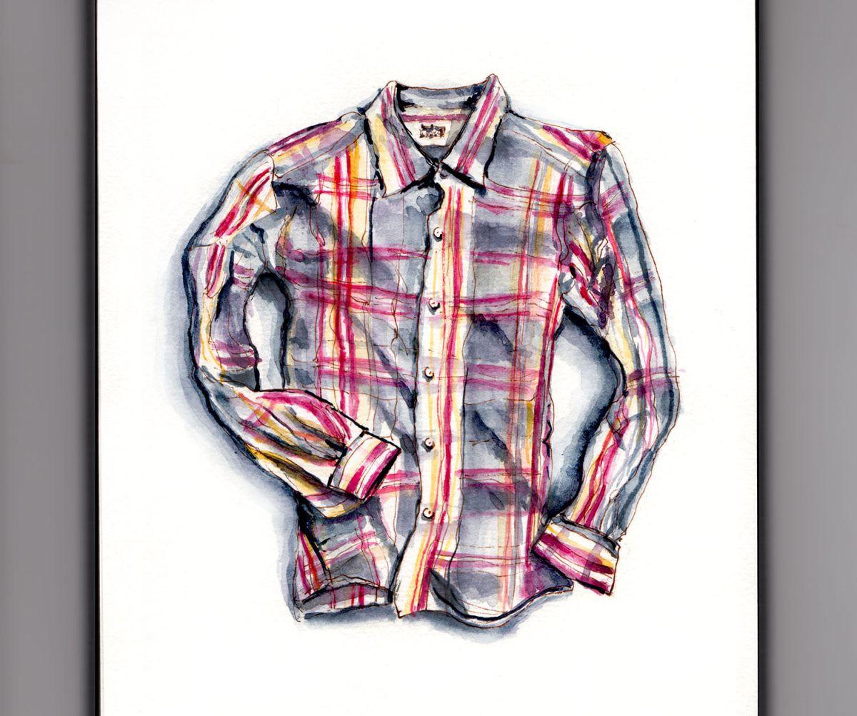 World Watercolor Group - Day 7 - My Favorite Shirt - Jules - France - Doodlewash