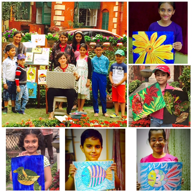 Class taught by Raka Mittra - Painting - Doodlewash