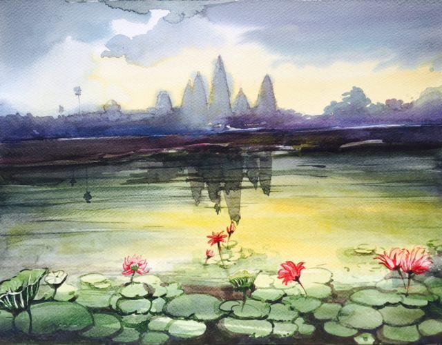 Painting by Raka Mittra - Watercolor - Doodlewash