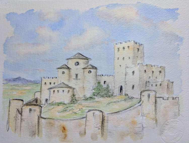 walled castle