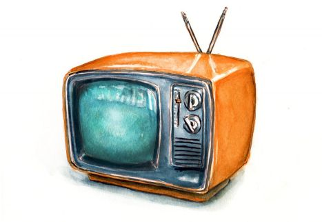 Day 20 - Watching A Childhood Show_Orange Retro Television