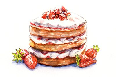 Day 26 - A Breathtaking View - Strawberry Cake
