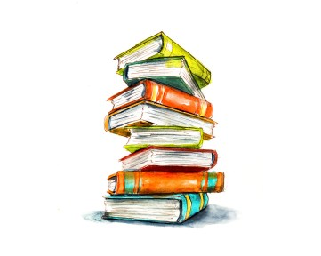 Day 5 - Curling Up With A Book_Stack Of Books