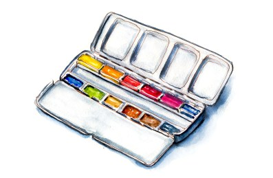 Day 7 - Getting New Art Supplies - Watercolor Travel Set