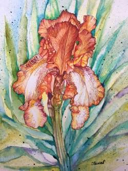 #WorldWatercolorGroup - Iris Watercolour Painting - Saswati Chakraborty - Doodlewash
