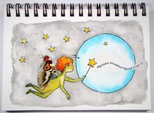 #Rubbermoon, #StencilGirl, #GwenLafleur #ColourArte Sprinkle Moondust by Sandee Setliff
