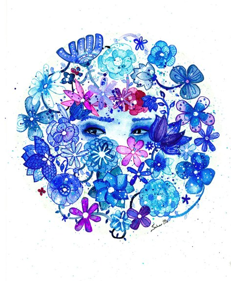 #WorldWatercolorGroup - Watercolor by Sahar Fall - Doodlewash