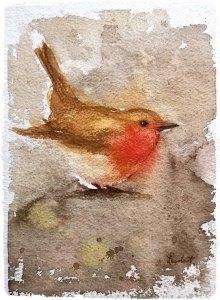 Go on little bird, take flight ! Watercolours essence ( A4 Indian Handmade block ) fotor_(155)