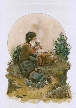 #WorldWatercolorGroup - Watercolor by Victor Doria Tintaya - Doodlewash
