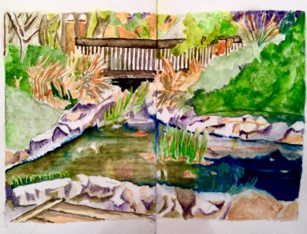 Urban sketching concentrating on real or exaggerated perspective. 3058E794-2FC3-4251-9419-597AE9C9D8
