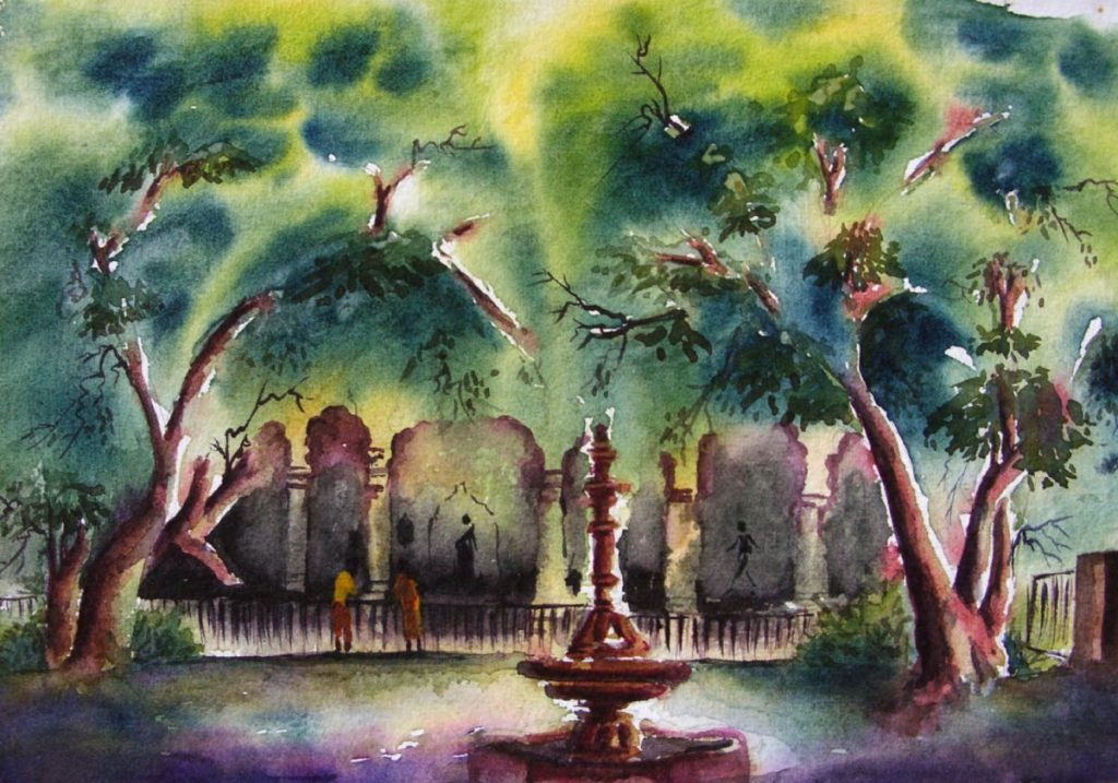 Watercolor painting is extremely old, dating perhaps to the cave paintings of paleolithic Europe, an