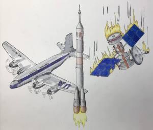 "Inktober 2017 – Day 29 ""United"" Airlines flight… 7564AD65-229B-40DF-A35B-BD26699"