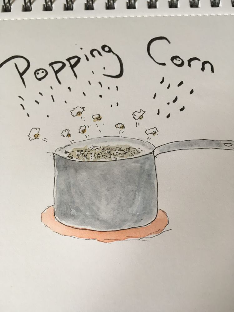 Day 21 Awesome Autumn prompt was CORN… and I have fond childhood memories of making popcorn in