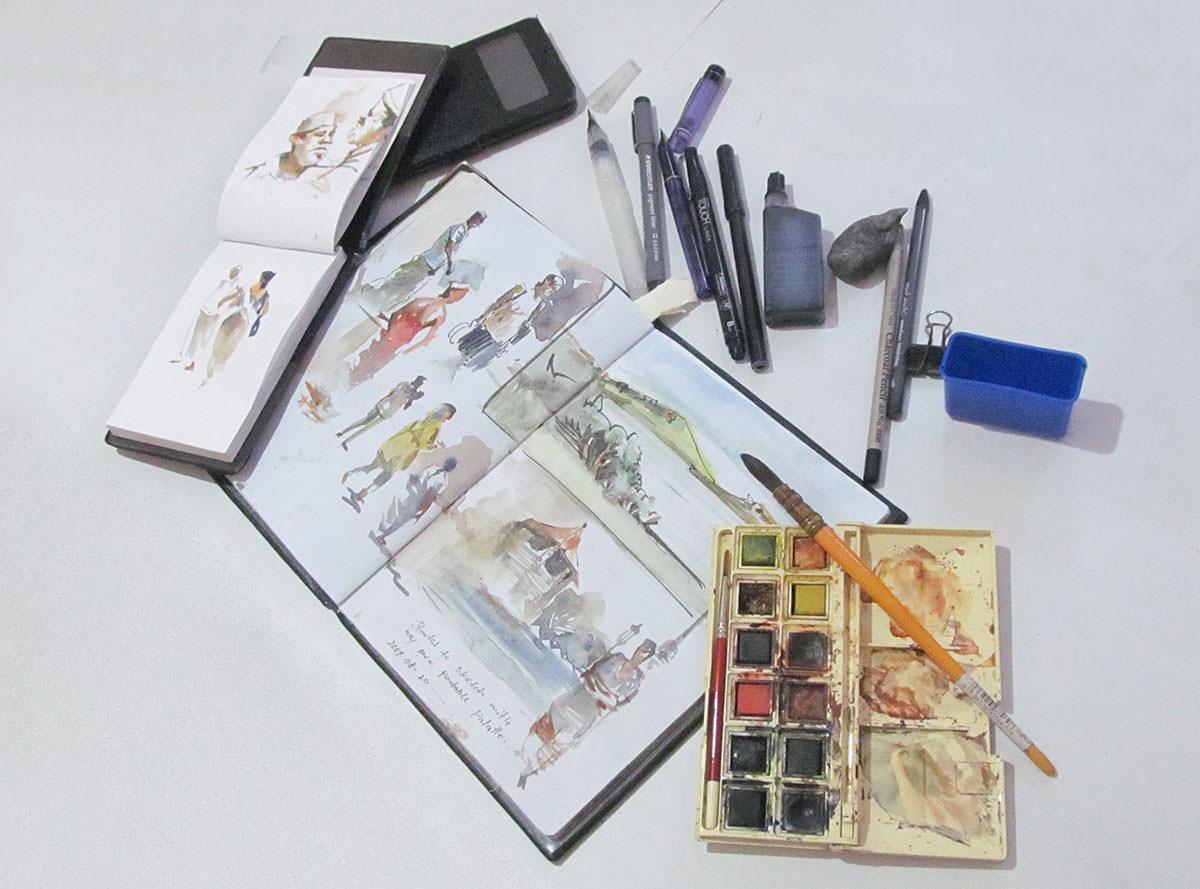 #WorldWatercolorGroup - Watercolour Tools by Asanka Wijerathna - Doodlewash