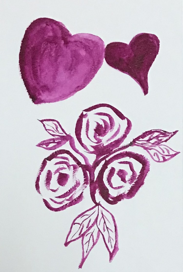 """Hearts & Flowers"" Experimenting with new brush. BE043682-49FD-45CA-B891-72F982B3F179"