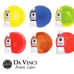 Da Vinci Watercolor Flower Paint Set Swatches