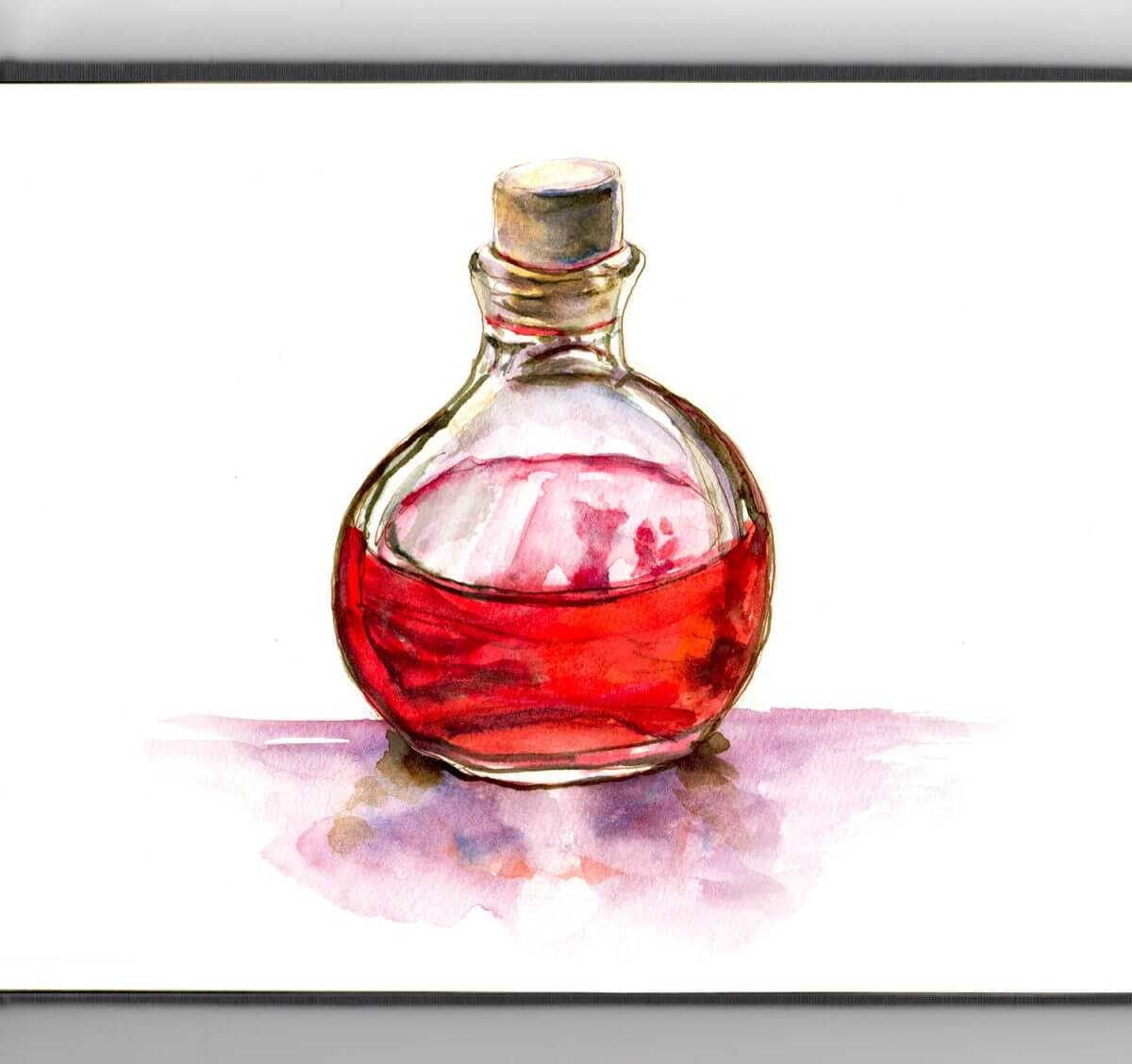 #WorldWatercolorGroup - Day 31_A Magic Potion - Doodlewash