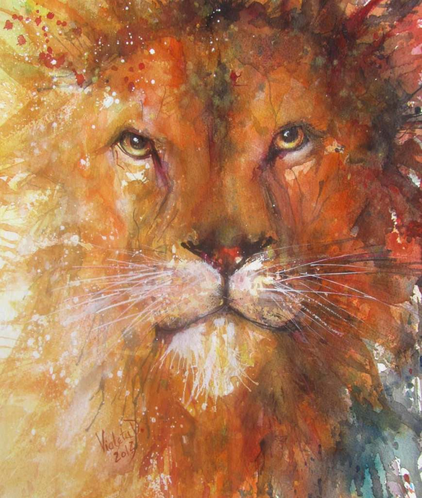 Great Lion, watercolour on Arches 300 gsm (2013) Great Lion_2013