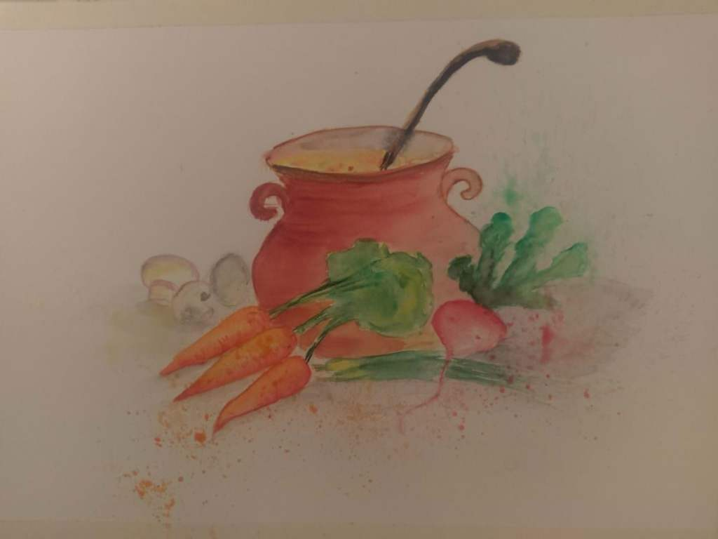 Not what I expected :)) as I did it very quick! I am a bit worried, as my first watercolor painting,