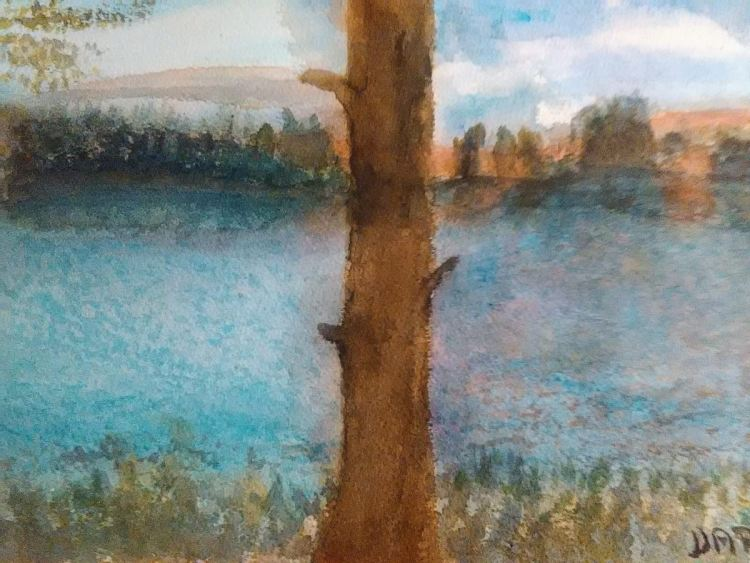 I painted this painting according to the photograph of my brother-in-law Jarka. It is a pond in Sout