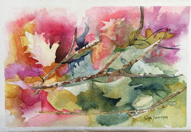 Autumn leaves in abstract. This was a fun project that just evolved. 😊 IMG_2113
