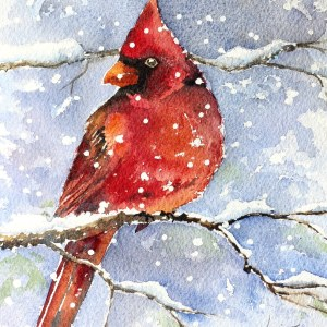 Cardinal – Original Watercolor