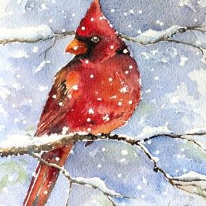 Cardinal – Original Watercolor