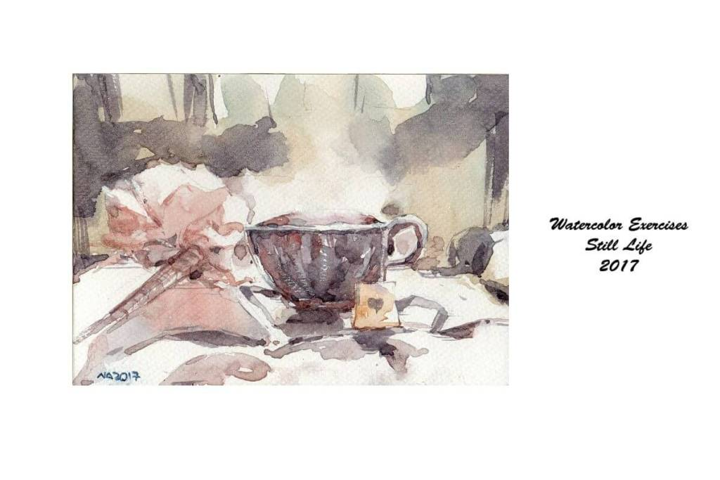 OK….another cup of tea for morning 🙂 #WorldWatercolorGroup WCE_23