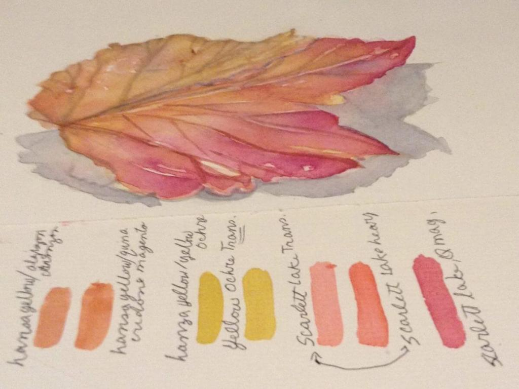 Found this leaf on the ground and just had to pick it up — It wanted me to paint it, so I did.