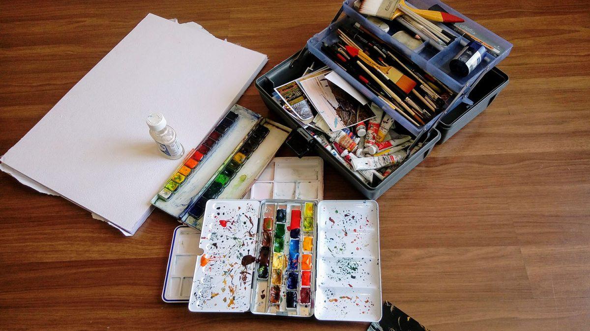 #WorldWatercolorGroup - Watercolor supplies of Aswin Sai Narain - Doodlewash